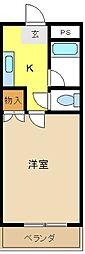 愛知県愛知郡東郷町三ツ池2丁目の賃貸アパートの間取り