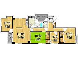 パークレーン'90[1階]の間取り