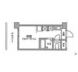 アックス横浜戸塚[208号室]の間取り