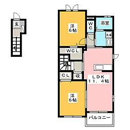 ステージ カラ[2階]の間取り