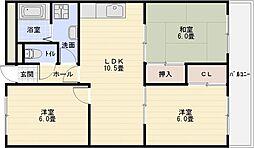 ルネアルマーニ[2階]の間取り