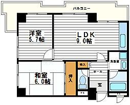 カーサ雅城台[4階]の間取り