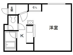 ル・ノール南参道 4階1Kの間取り