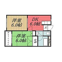 千葉県千葉市緑区あすみが丘2丁目の賃貸マンションの間取り