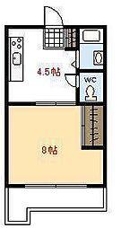 ファミリーマンション青葉1[304号室]の間取り