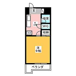 サニークレスト清水[4階]の間取り
