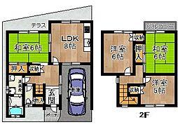 [テラスハウス] 奈良県奈良市法蓮町 の賃貸【/】の間取り