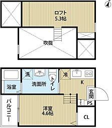 愛知県名古屋市南区道徳新町6丁目の賃貸アパートの間取り
