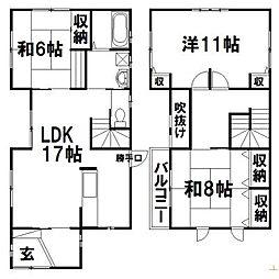 [一戸建] 静岡県浜松市中区領家1丁目 の賃貸【/】の間取り