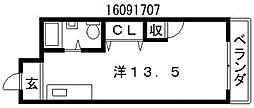 西田辺ハイツ[7階]の間取り