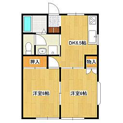 ドミュールA[1階]の間取り