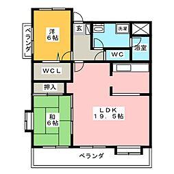 エスポア豊明VI 壱番館 1502号室[15階]の間取り