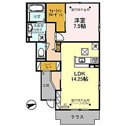 (仮)D-room三馬[103号室]の間取り