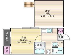 メゾンド井尻[1階]の間取り