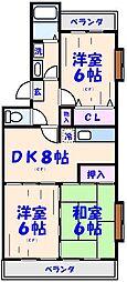 ボナールシャトレー原木[1階]の間取り