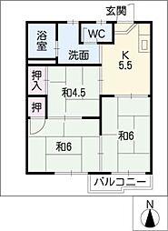 フォーブル浄水II[2階]の間取り