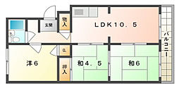 寿マンション[3階]の間取り