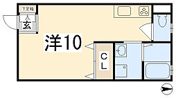 ハイツガルムII[201号室]の間取り