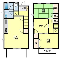 [タウンハウス] 愛知県みよし市三好丘旭1丁目 の賃貸【/】の間取り