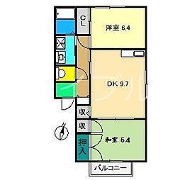 アメニティハイツ C棟[1階]の間取り