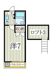 シーザースパレス2[2階]の間取り