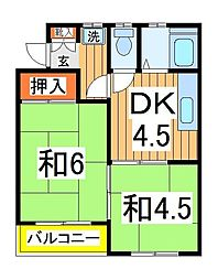 ビューエステート2[2階]の間取り