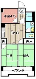 シャトレ吉野町[402号室]の間取り