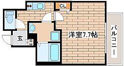 神戸市海岸線 みなと元町駅 徒歩2分の賃貸マンション 8階1Kの間取り