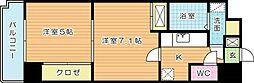 アヴィニールNo.5[603号室]の間取り