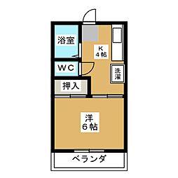 ハイツSJ下島[2階]の間取り