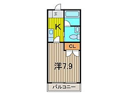埼玉県戸田市川岸3丁目の賃貸アパートの間取り