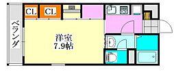 千葉県船橋市前原西2丁目の賃貸マンションの間取り
