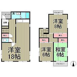 [一戸建] 神奈川県横浜市栄区桂台西2丁目 の賃貸【/】の間取り
