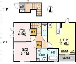レユシール[2階]の間取り