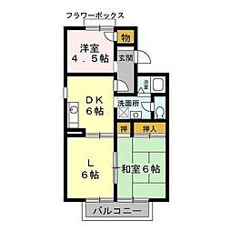 メゾンクレール参番館[2階]の間取り