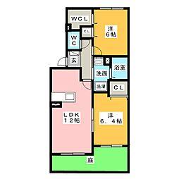 プリムm B棟[1階]の間取り