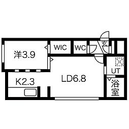 DIAGE PARK(ディアージュパーク)[3階]の間取り