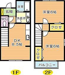 Bambini沖田(バンビーニ沖田)[2階]の間取り