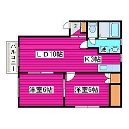 北海道札幌市東区北四十五条東7丁目の賃貸アパートの間取り