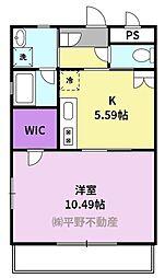 仮)久留米大学生向け新築賃貸マンション 3階1DKの間取り