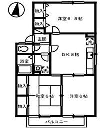 フォレストヴィラ C棟[1階]の間取り