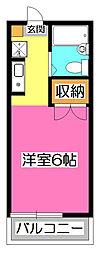 東京都東村山市久米川町2丁目の賃貸アパートの間取り