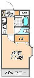 兵庫県神戸市須磨区多井畑東町の賃貸マンションの間取り