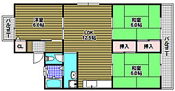 casa verde B棟[201号室]の間取り