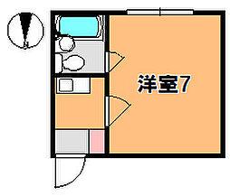 奈良県奈良市柳町の賃貸マンションの間取り