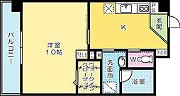 LITTLE 1 檜垣[202号室]の間取り