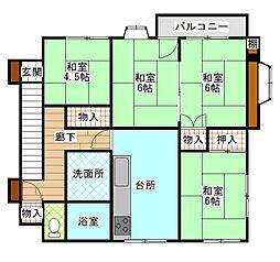 千葉県松戸市八ケ崎3丁目の賃貸アパートの間取り
