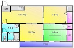 板倉第一ビル[3階]の間取り