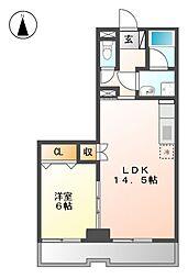 センチュリーハウス2[4階]の間取り