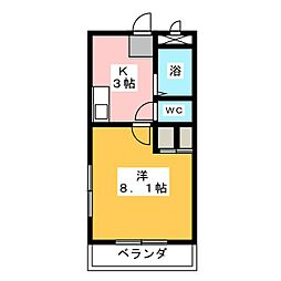 カムトゥルー[3階]の間取り